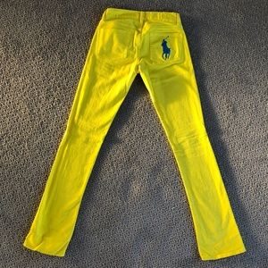 Yellow RL Jeans with Oversized Blue Polo Horse